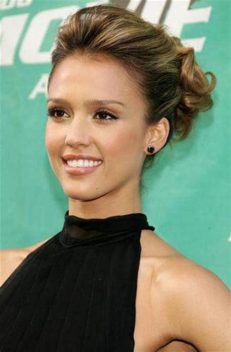 bridesmaid hairstyles jessica alba jessica alba updo celebrity hairstyles jessica alba