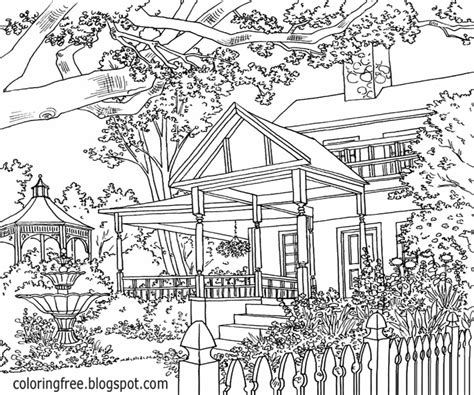 coloring books country cottage backyard gardens 2 40 grayscale coloring pages of country cottages cottages gardens flowers and more books coloring book grayscale country cottage backyard