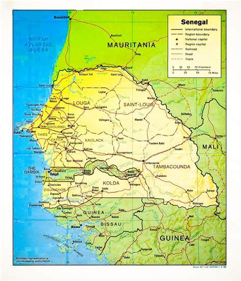 senegal map senegal