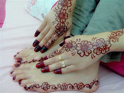 tato henna di tangan gambar inai simple best image hd