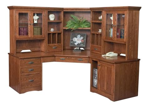 Desk And Bookshelf by Details About Amish Executive Corner Computer Desk