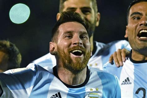 goals hat trick from lionel messi takes argentina