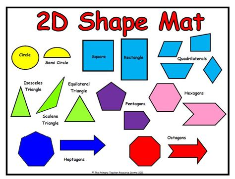 printable 2d shapes and names maths shapes with names lesupercoin printables worksheets
