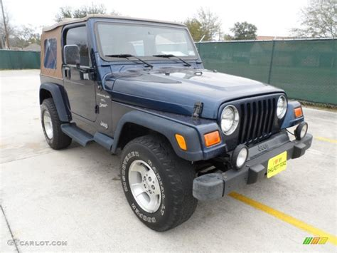 2000 patriot blue pearl jeep wrangler sport 4x4 60181597 gtcarlot car color galleries
