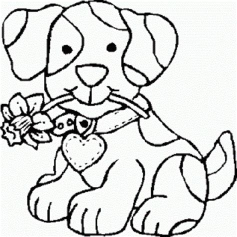 easy puppy coloring pages cute puppy easy coloring pages coloringsuite com