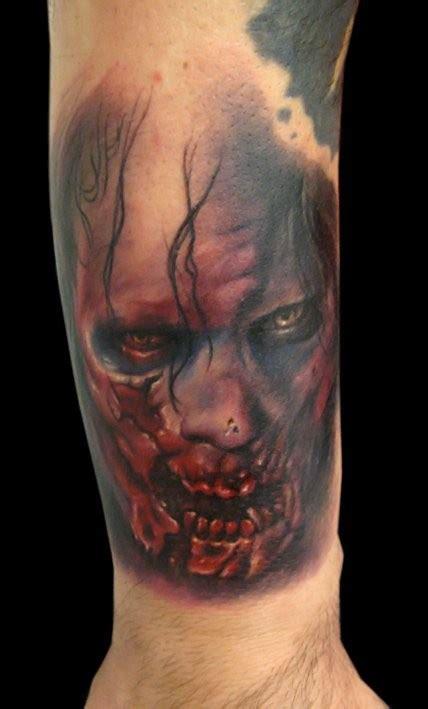 tattoo arm zombie zombie tattoo on arm