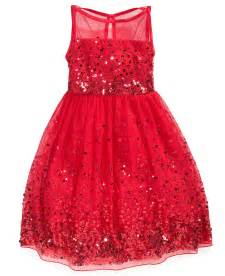 macy s girls holiday dresses red prom dresses