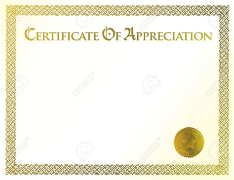 certificate of appreciation template free editable