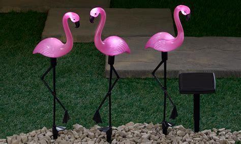 flamingo solar lights set of three flamingo solar lights from 17 99 in solar