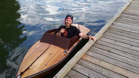 mini inboard boat plywood boat electric inboard small youtube
