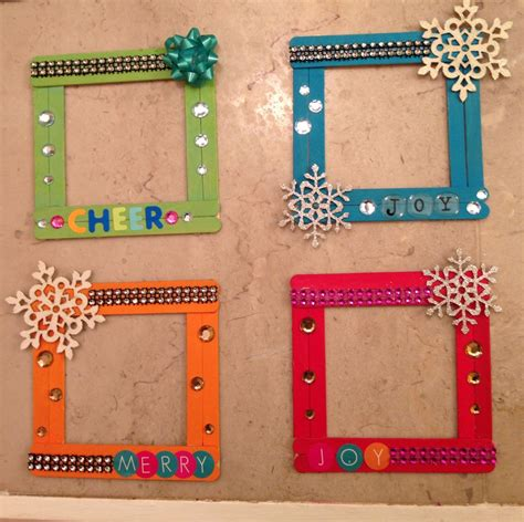 xmas popsicle stick frames i made these jsigler