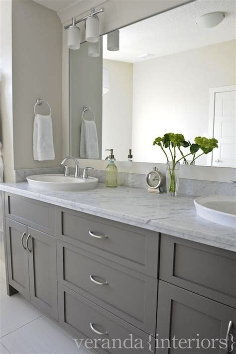 Grey Bathroom Cabinets by Decorating Cents Gray Bathroom Cabinets