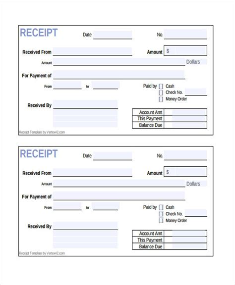 Payment Receipt Template Html by 10 Receipt Form Sle Free Sle Exle Format