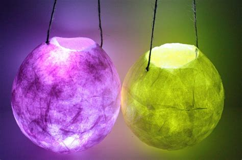 How To Make Paper Hanging Lanterns - hanging paper lantern faerie lights small paper mache