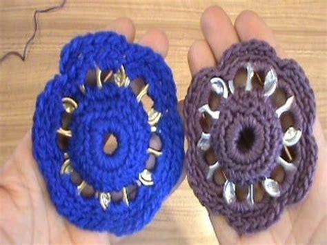 tejer con fichas de lata como tejer una flor con arillos de lata reciclando youtube