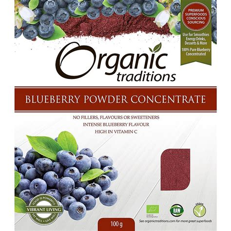 Murah Dried Blueberry 100g organic traditions freeze dried blueberry powder 100g food powders planet organic