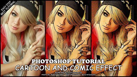 photoshop tutorial cs5 cartoon effect create easy cartoon effect photoshop tutorial youtube