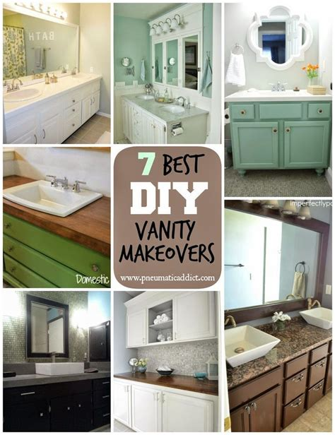 bathroom vanity makeover diy pneumatic addict 7 best diy bathroom vanity makeovers