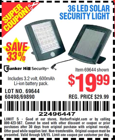36 Led Solar Security Light Harbor Freight Tools Coupon Database Free Coupons 25