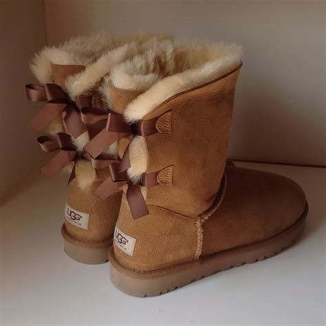 ugg boots bows on back s uggs with bows on back size 8 snow boot