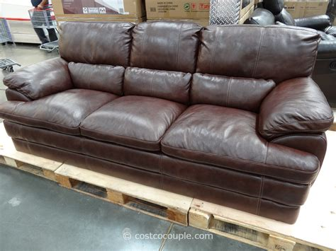 costco sofa leather simon li cambridge leather sofa thesofa