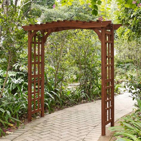Wood Arbor For Sale Coral Coast Halstead Wood Garden Arbor Arbors At Hayneedle