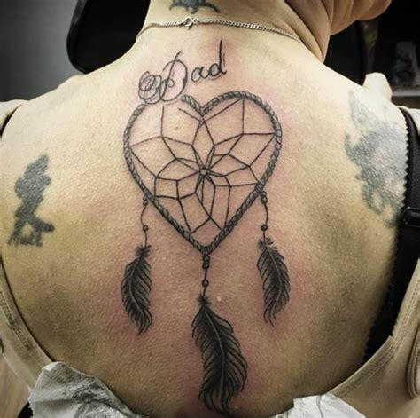 heart dreamcatcher tattoo 50 gorgeous dreamcatcher tattoos done right tattooblend