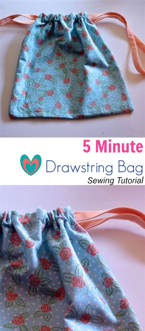 pattern for simple drawstring bag 5 minute drawstring bag sewing tutorial on the cutting
