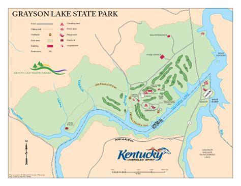 kentucky lake map pdf grayson lake state park map olive hill ky mappery