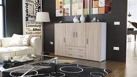kommode weiß hochglanz günstig wohnzimmer design wandgestaltung