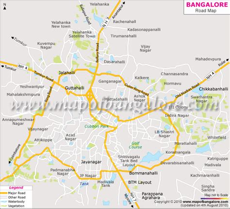 bangalore city map images 600 x