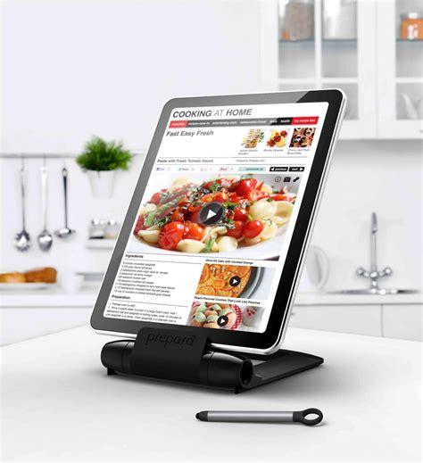 tablette pour recette de cuisine prepara lutrin noir pour tablette tactile avec stylet