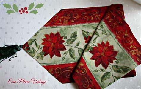 red christmas runner red poinsettia runner topper red berries christmas