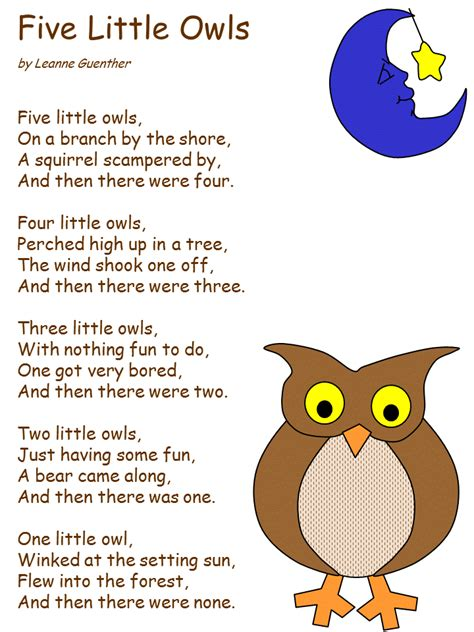 Kids Revolving Bookcase Preschool Songs Poem And Owl On Pinterest