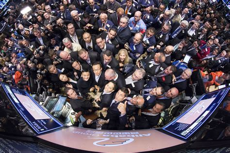 nyse welcomes alibaba baba in pictures
