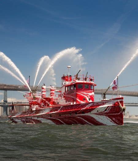 fireboat white red fireboat