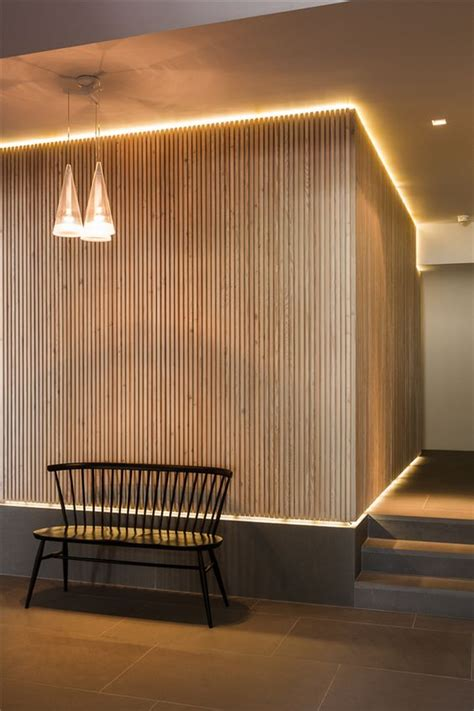 wood wall indirect lighting l pinterest
