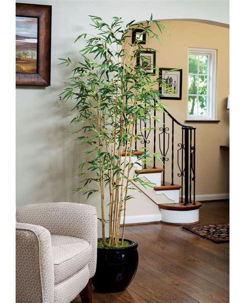plants for home decor 5 golden bamboo artificial tree at officescapesdirect