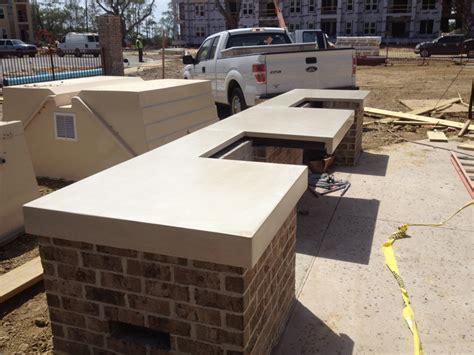 Outdoor Concrete Countertops by Outdoor Countertops Diy Images