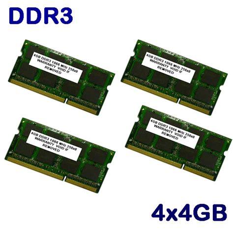Laptop Apple Ram 4gb 16gb 4x 4gb pc3 8500 1066mhz ddr3 apple ram memory new ebay