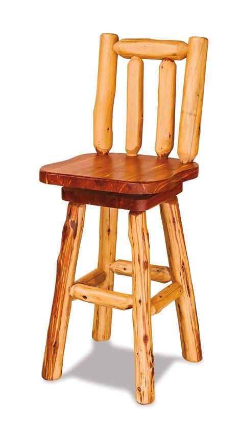 Cedar Log Bar Stools by Rustic Cedar Log Bar Stool From Dutchcrafters Amish