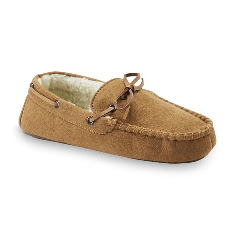 route 66 slippers route 66 boy s alton microsuede moccasin slipper