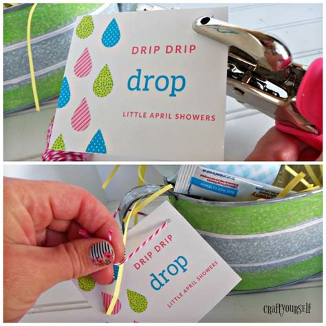 Drip Drip Drop April Shower by Drip Drip Drop April Showers Watering Can Easter Gift Basket