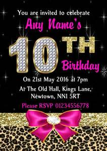 10th birthday invitations cimvitation