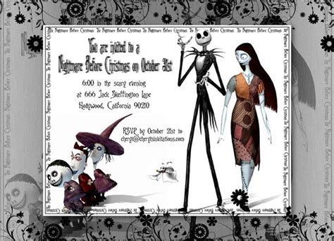 nightmare before printable template card nightmare before birthday invitations