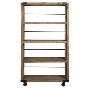 shelving on wheels elm wood industrial shelving with wheels achica