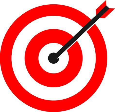 target bullseye target arrow bulls eye 183 free vector graphic on pixabay