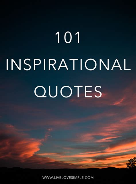 inspring quotes 101 inspirational quotes live love simple