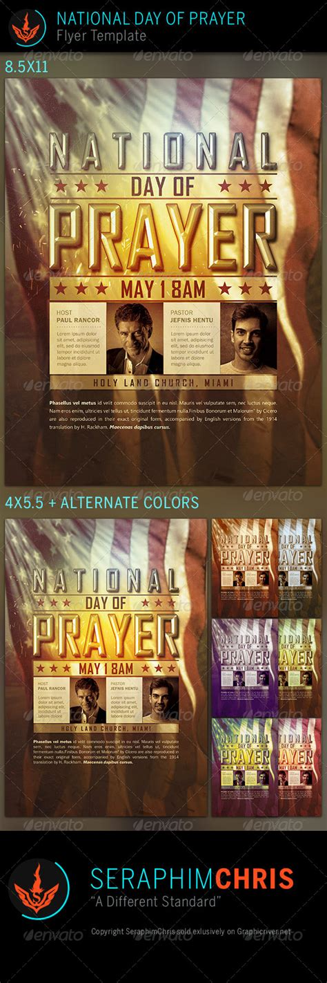 National Day Of Prayer Church Flyer Template By Prayer Flyer Template