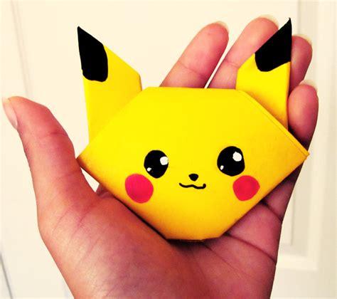 Origami Pikachu - simple pikachu origami http www ikuzoorigami